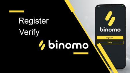 Como registrar e verificar conta no Binomo