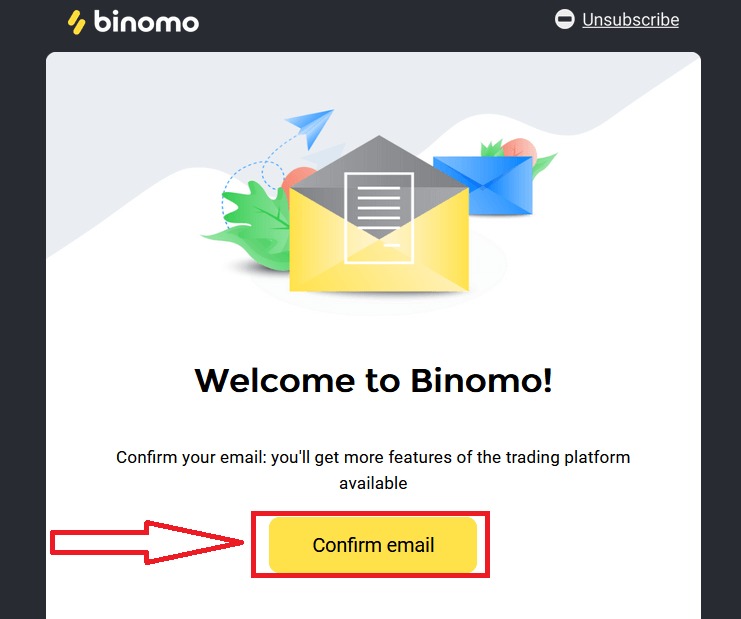 Como abrir uma conta de demonstração no Binomo